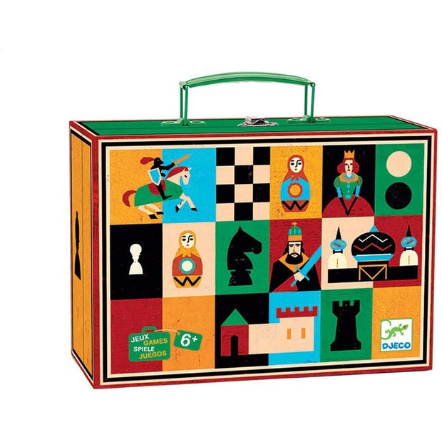 Djeco Nomad Chess Set and Checkers