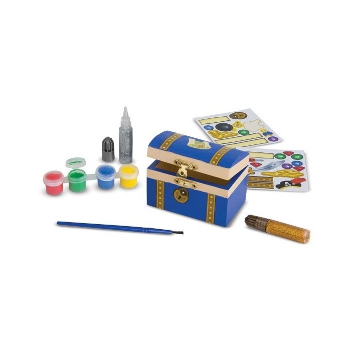 Melissa & Doug Decorate Your Own Wooden Pirate Chest