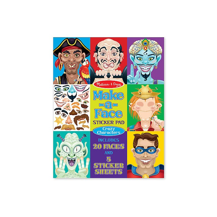 Melissa & Doug Make A Face Crazy Characters Stickers Pad