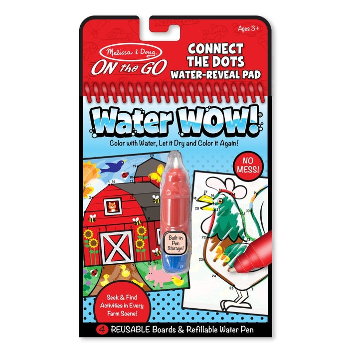 Melissa & Doug On the Go Connect the Dots Water Reveal Pad