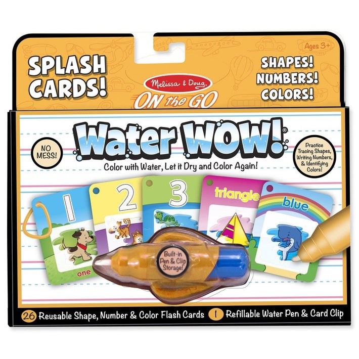 Melissa & Doug On the GO Splash Cards Water Wow Shapes, Numbers, and Colours