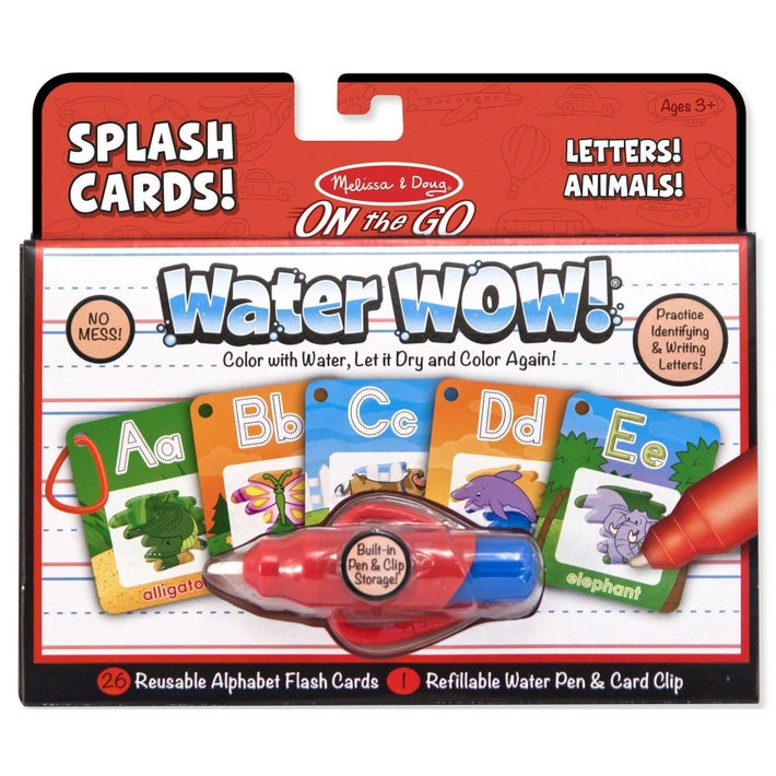 Melissa & Doug On the Go Splash Cards Water Wow Letters Animals