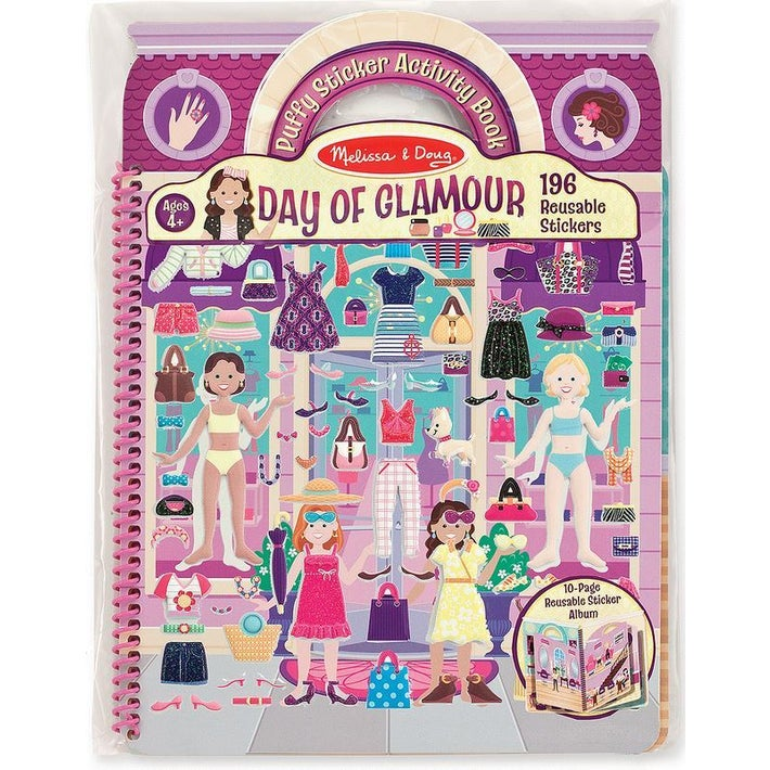 Melissa & Doug Puffy Activity Sticker Book Day of Glamour